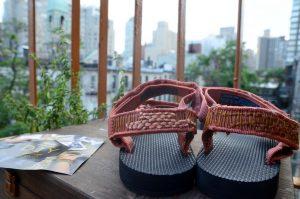 tevas on balcony in the city